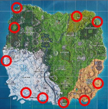 Fortnite Fireworks Locations