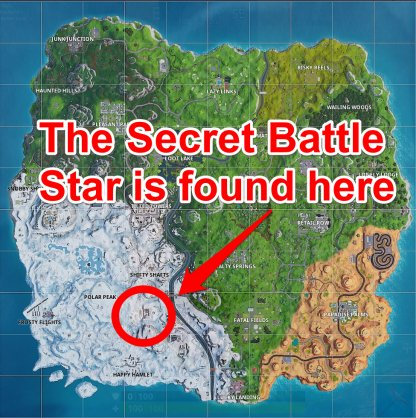 Season 7 Week 9 Secret Battle Star Location