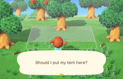 Choose Own Tent Location