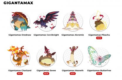 5 New Gigantamax Pokemon