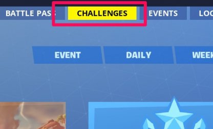 Challenges button at lobby