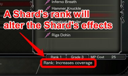 Rank Denotes Effects of the Shard