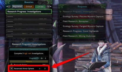 Registered Bounties Reward Armor Spheres