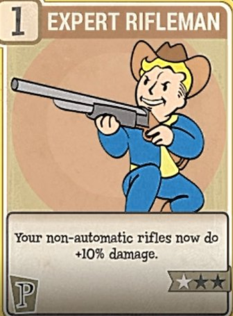 Fallout 76 Perk Cards Perception Expert Rifleman