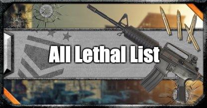 All Lethal List