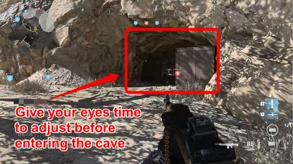Cave Differs In Brightness With Village