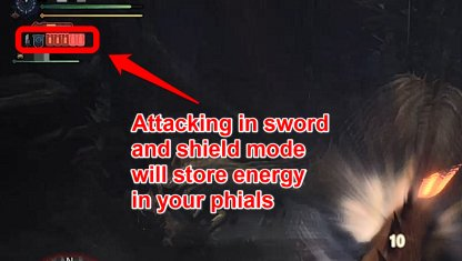 Store Energy In Phials Using Sword & Shield Mode