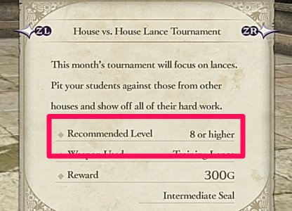 Check Recommended Level Before Participating