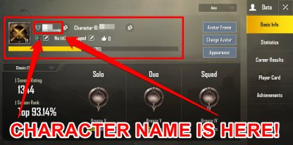 Pubg Mobile How To Change Name With Id Card - see name id in basic info