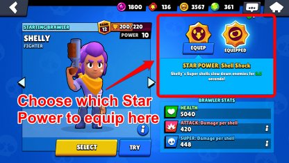 Choose Which Star Power to Equip