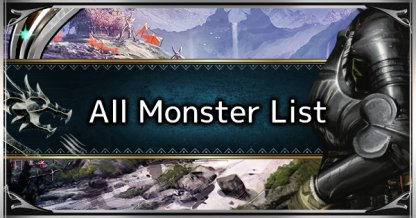 All Monster List & Locations Guide