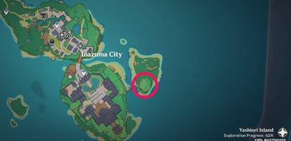 Kid Kujirai Location Inazuma City Map