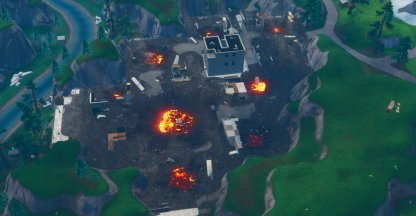 Destroyed Tilted Towers & Retail Row
