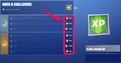 XP Reward After Tier 100