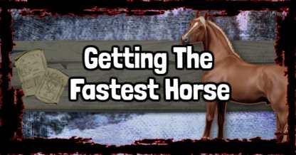 Red Dead Redemption 2 How To Get The Fastest Horse Rdr2