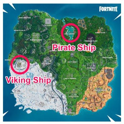 Ship Locations
