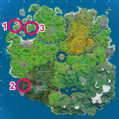 Coral Cove, Stack Shack, and Crash Site Location