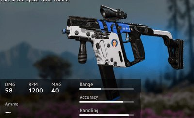 Far Cry New Dawn Space Force Vector.45 ACP