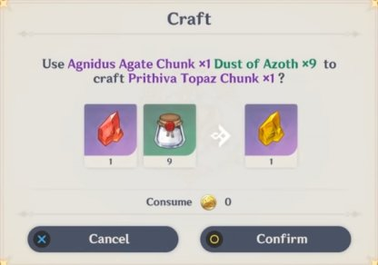 Change Character Ascension Materials Into Another Element