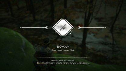 Unlocks Blowgun Weapon