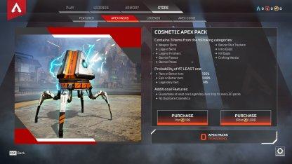 Buy Apex Packs to Unlock Items