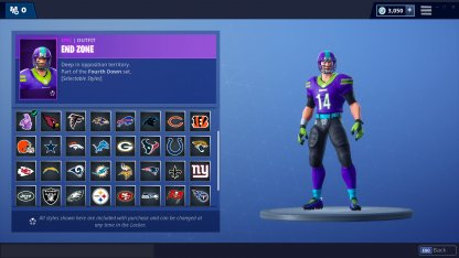 Fortnite NFL Collaboration Skin Customize