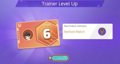 Reach Trainer Level 6 to Unlock