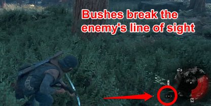 Use Bushes To Hide From Enemies