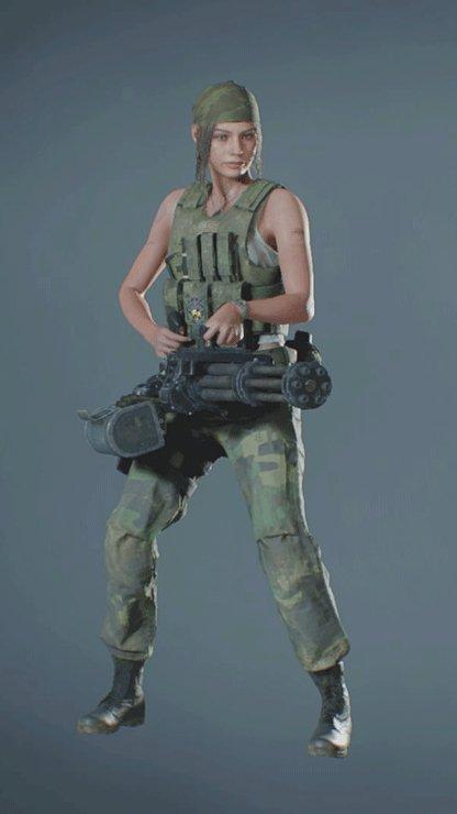 Clair - Military Minigun Front