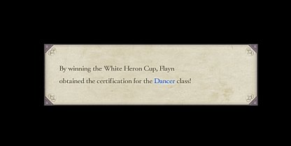 White Heron Cup Unlocks Dancer Class