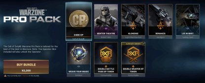 Warzone Pro Pack