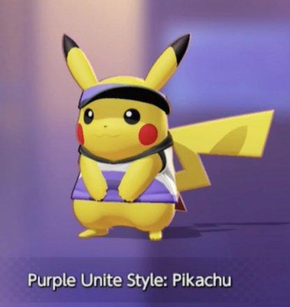 Purple Unite Style Pikachu