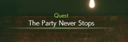 The Party Never Stops Procedure Chart