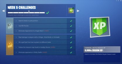 Weekly Challenges & Rewards Example