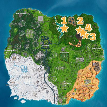 Season 8 Secret Banner / Battle Star Locations