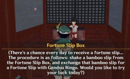 Fortune Slip