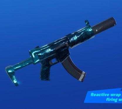 SHATTERED ICE Wrap - Submachine Gun