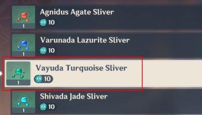 Vayuda Turquoise Sliver Buy