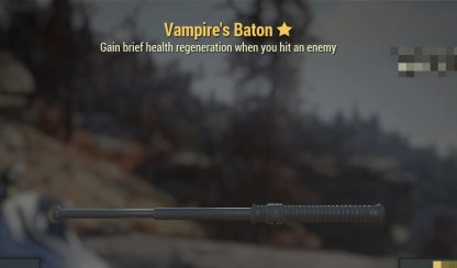 Fallout 76, Best Weapons - Tips & Stats, Vampire