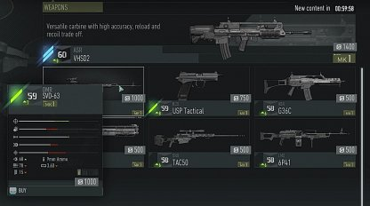 Purchase & Craft Specific Weapons