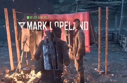 Receive Missions, Side Quests from NPCs in Camps