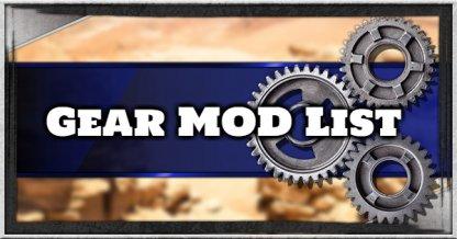 Gear Mod List