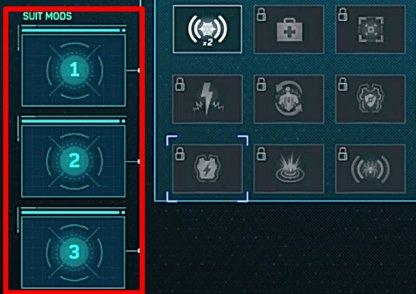 All Unlockable Suit Mod List & Recommended Loadout - Spider