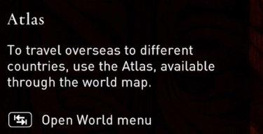 Unlocks Atlas (Fast Travel)