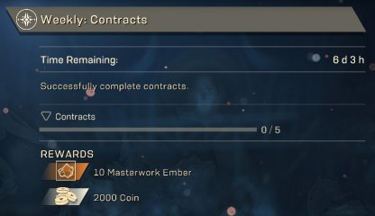 Anthem Complete Weekly & Monthly Challenges