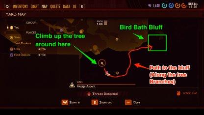 Bird bath bluff