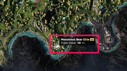 Monstrous Animal Monstrous Boar Location 1