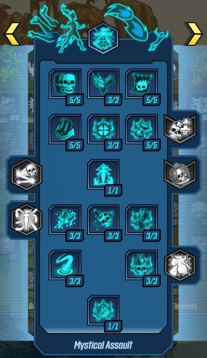Mystical Assault - Skill Tree & Action Skills