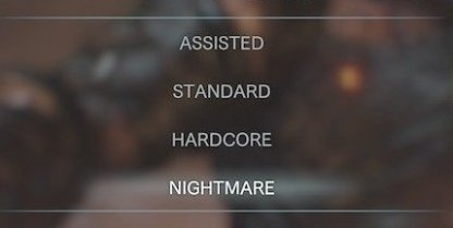 Complete Game On Hardcore To Unlock Nightmare Difficulty