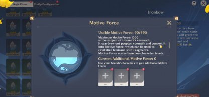 Place More Fragments With Motive Force